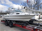 34' Cabriolet 2004 - Insurance Salvage - Damaged Boat