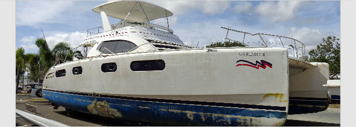47' Robertson & Caine 2012  - Insurance Salvage - Damaged Boat